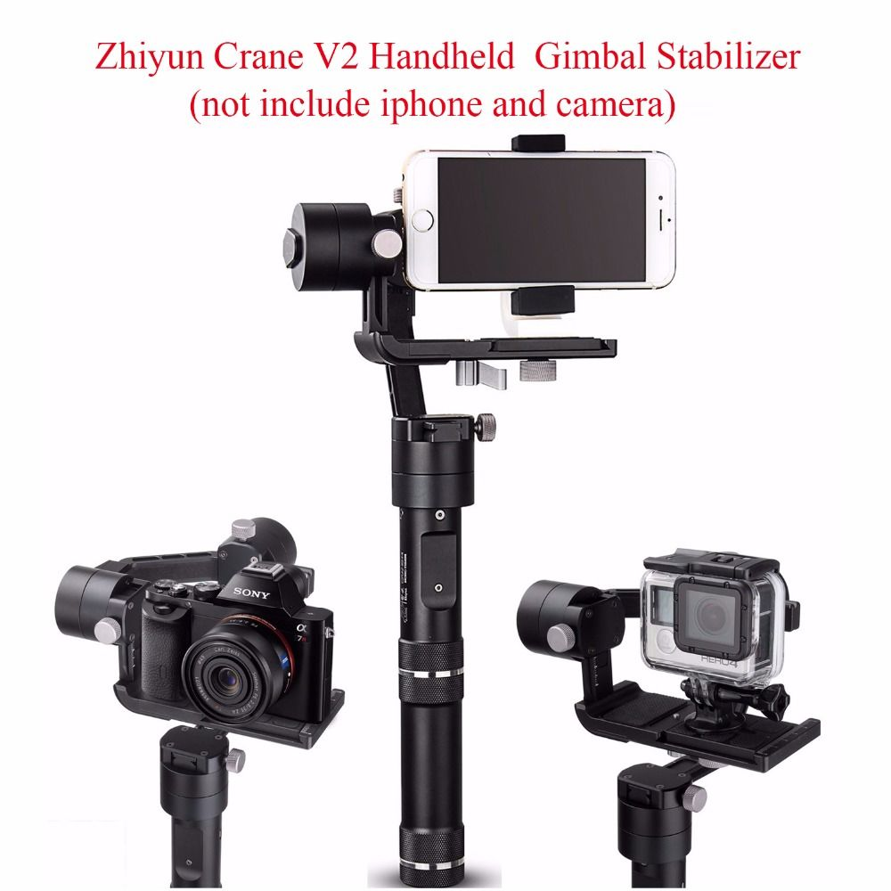 Zhiyun Kran V2 3-achsen Bluetooth Handheld Gimbal Stabilizer für ILC Mirrorless Kameras + Hard Case, Zhiyun Tech Kran V2 Gimbal