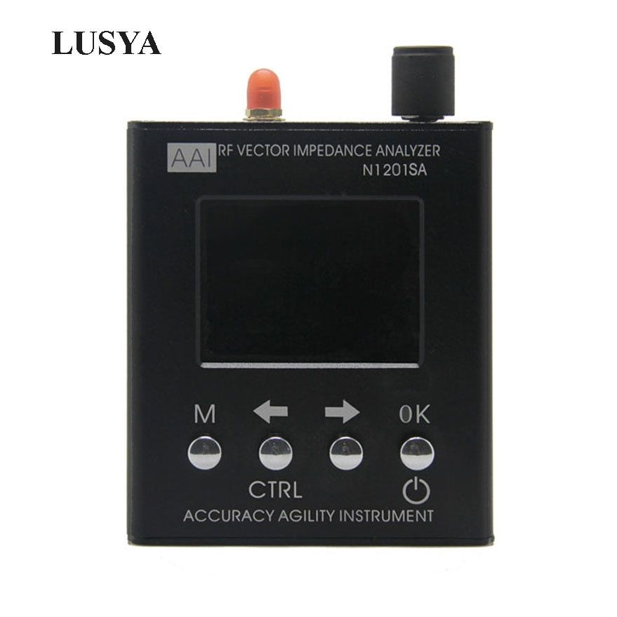 Lusya English verison N1201SA 140MHz-2.7GHz UV RF Vector Impedance ANT SWR Antenna Analyzer Meter Tester 140MHz - 2.7GHz