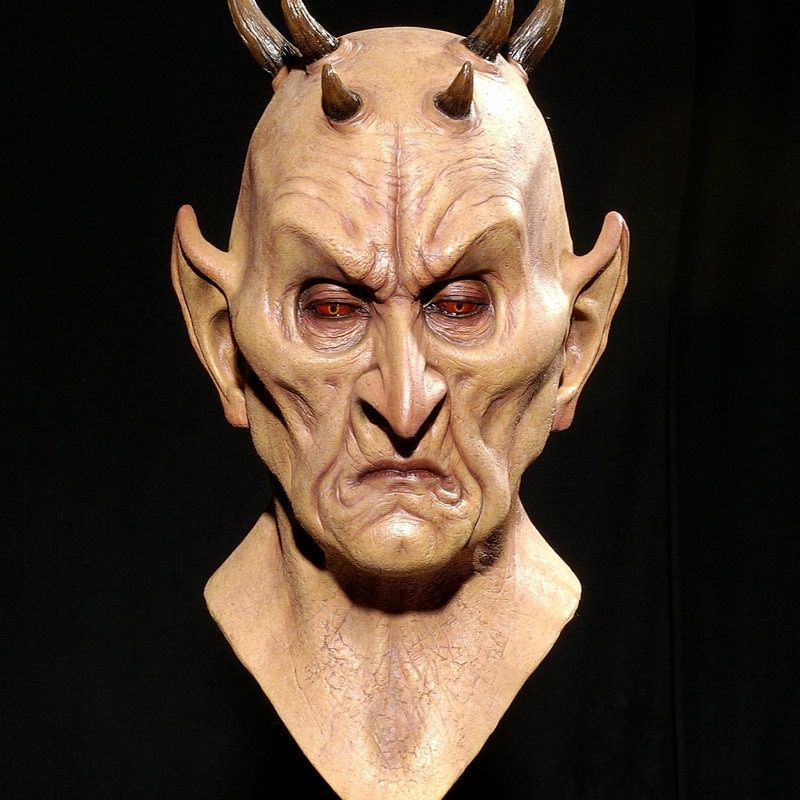 Creative tête masque terreur six corne monstre masque Halloween bull démon tête ensemble