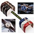 Quality genuine leather watch band 14mm 16mm 15mm 17mm 18mm 19mm 20mm 21mm 22mm 24mm replacement leather strap for mens