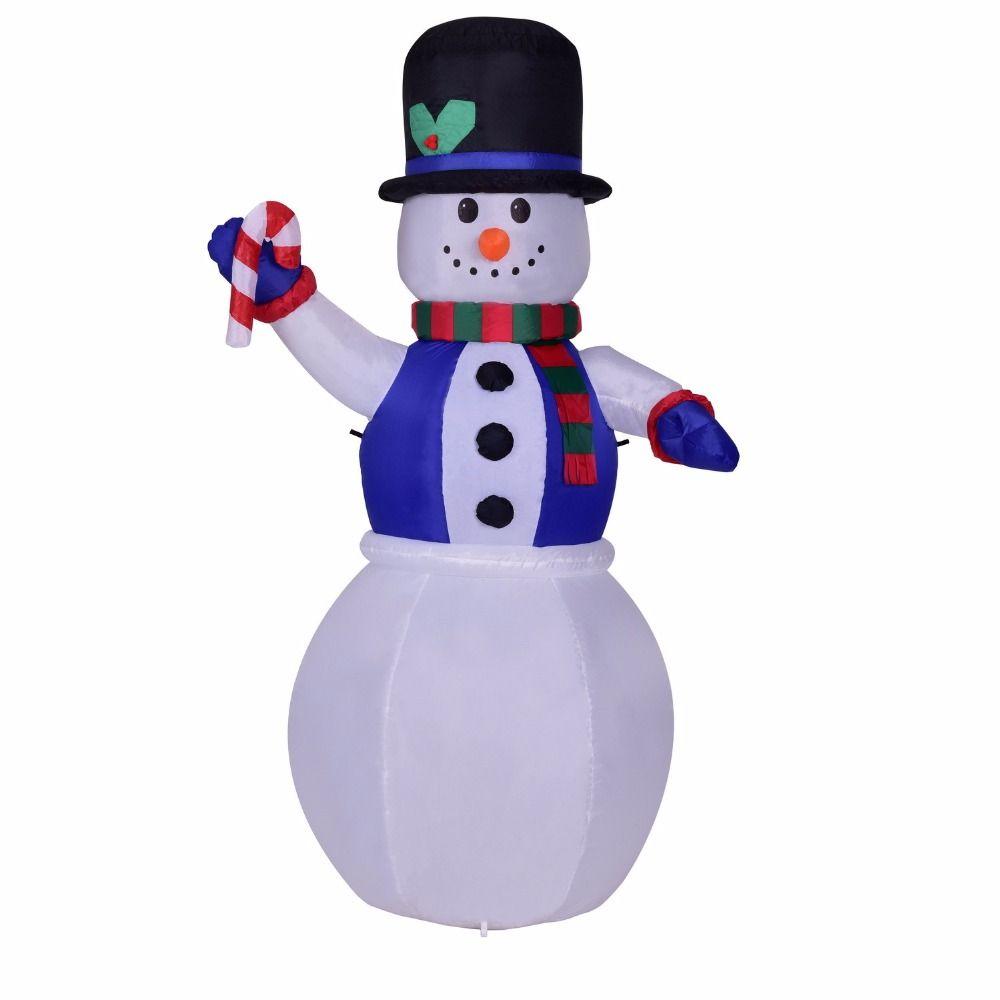 180 cm Riesigen Aufblasbaren Blau Schneemann Santa Claus Blow Up Spielzeug Weihnachten Halloween Oktoberfest Requisiten Winter Party Dekoration
