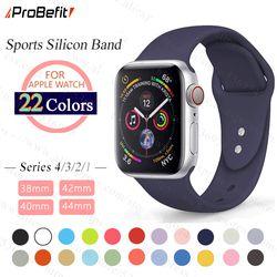ProBefit macio relógio Esportivo Silicone Relógio Banda para Apple 4 3 2 1 38 MM 42 MILÍMETROS Bandas Pulseira De Borracha Pulseira para Iwatch série 4 40mm 44mm