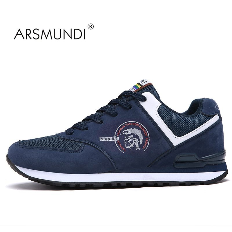 ARSMUNDI Original Men's Popular Walking Shoes 8H-705 Sneaker Air Mesh Breathable Lace Up Cushion Men Shoes Platform Sneakers