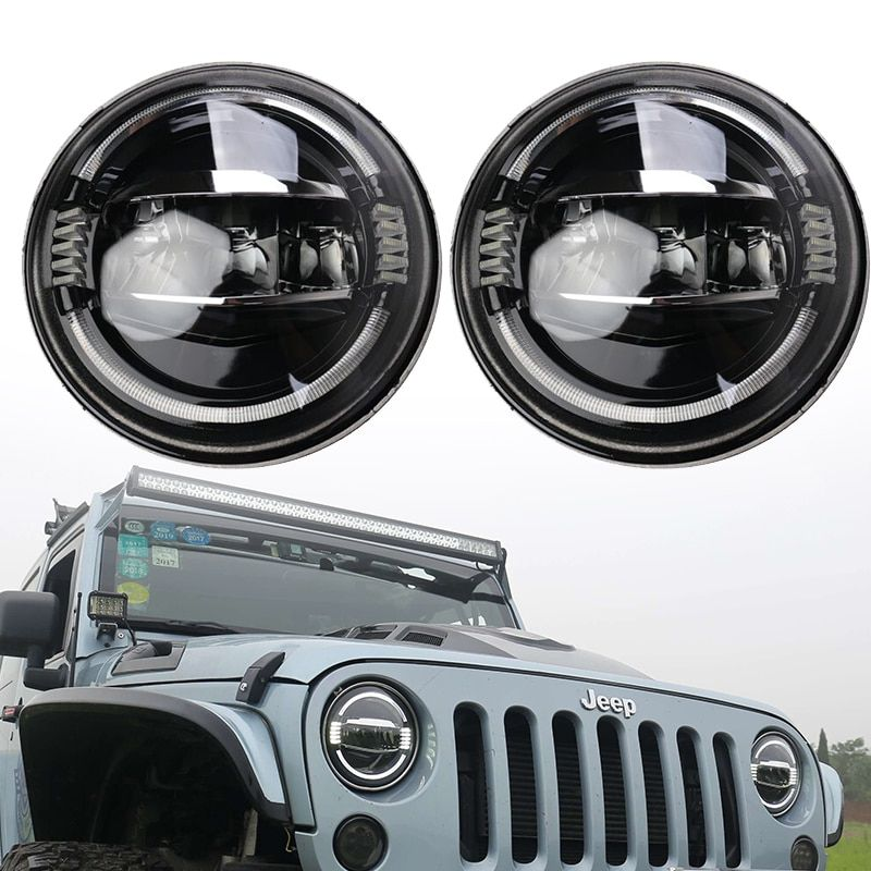 Led Headlight 7 Inch Hi-Lo 50W 5000lms 3000lm for Harley Moto Bike Jeep Wrangler 1997-2016 Lada Niva Offroad 4x4