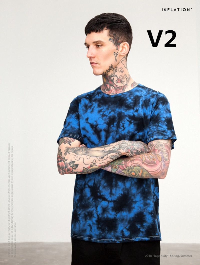 2018 neu kommen Fashion herren 100% baumwolle t-shirt V2 2 Teile/satz