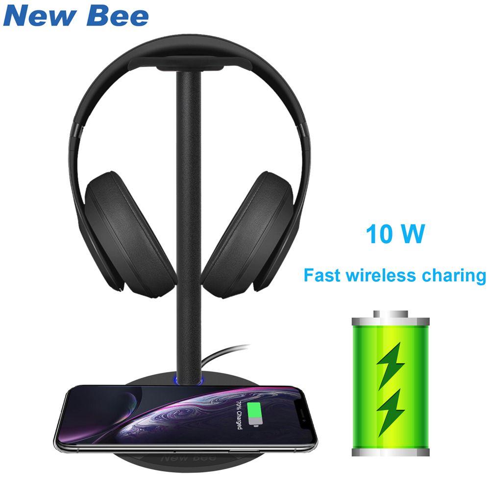 Nouveau support de casque de charge sans fil rapide abeille 5W 7.5W 10W support de support de casque de vitesse de charge sans fil pour tous les téléphones QC