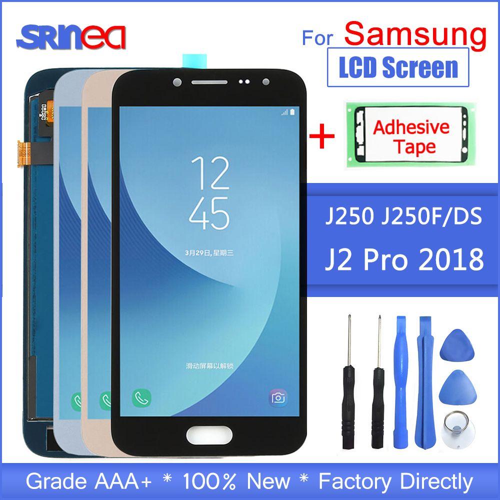 Für Samsung Galaxy J2 Pro 2018 LCD J250 J250F/DS J250F Display Touchscreen Digitizer Ersatz Klebeband + werkzeuge 100% Getestet