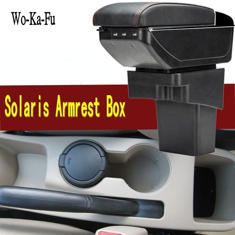 Car Armrest For Hyundai Accent RB Solaris 2011-2016 Centre Console Storage Box Arm Rest 2012 2013 2014 2015