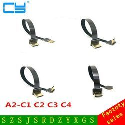 5cm-80cm 90 Degree Up Angled FPV Mini HDMI Male to HDMI Male FPC Flat Cable for Multicopter Aerial Photography