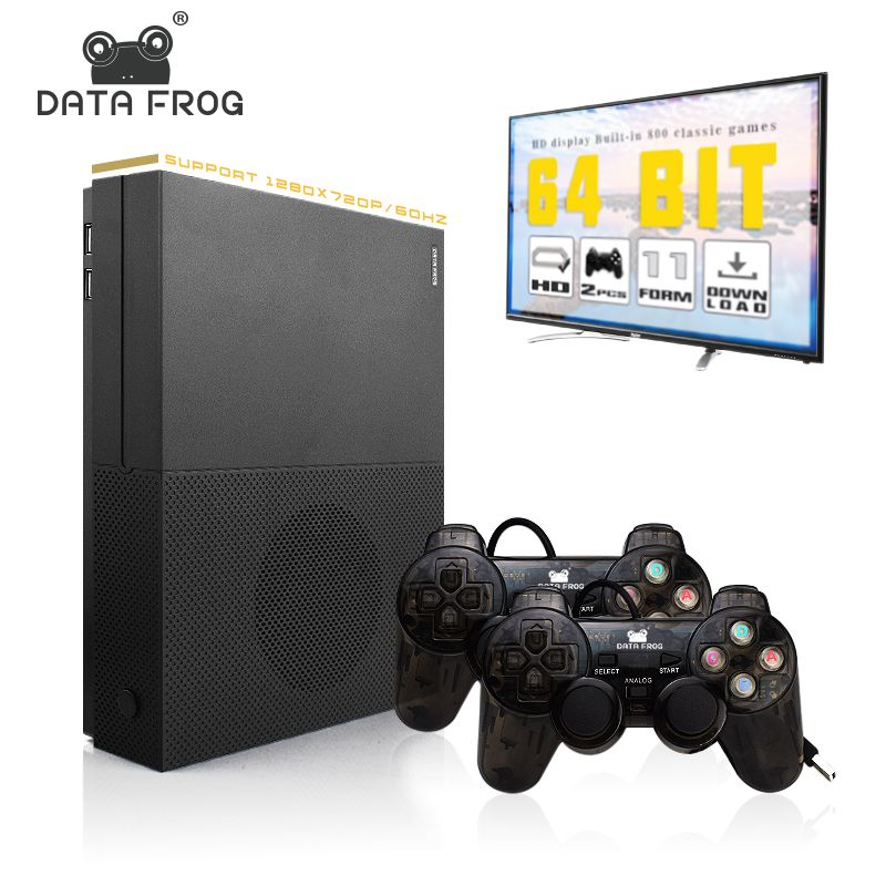 Data frog HD Video Game Console Support 4K HDMI TV Output 64 Bit Built In 800 Games For PS1/GBA Retro Console