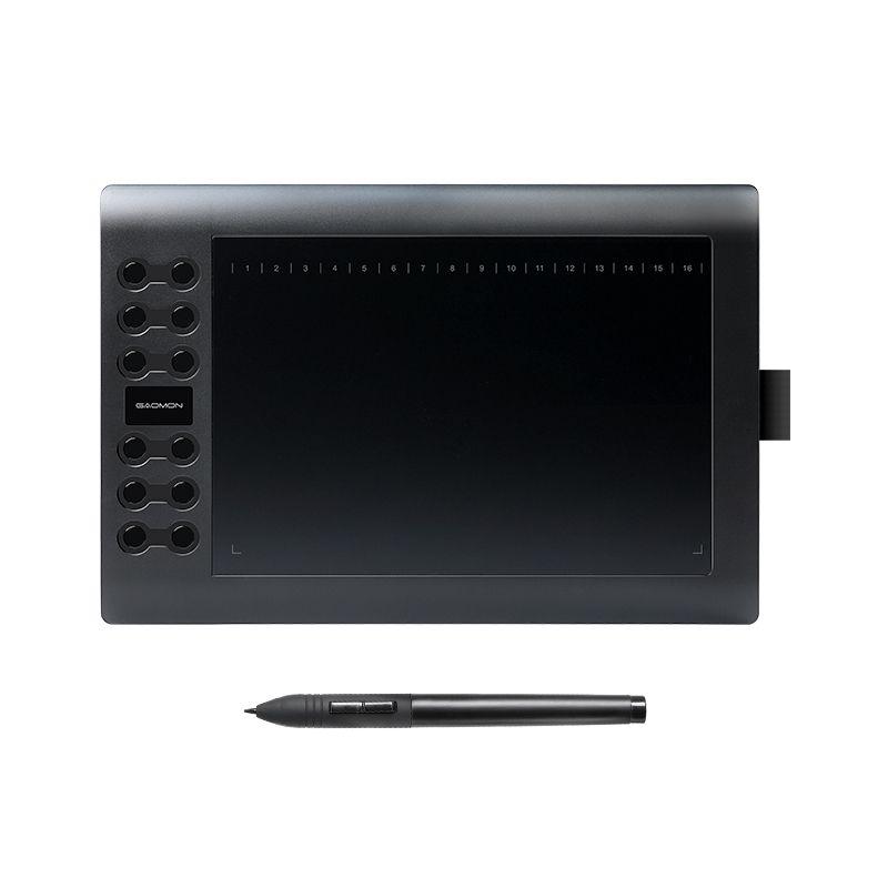 GAOMON M106K-Professionnel 10 Pouces Tablette Graphique pour Dessin avec USB Art Numérique Tablet 2048 Niveaux Stylo