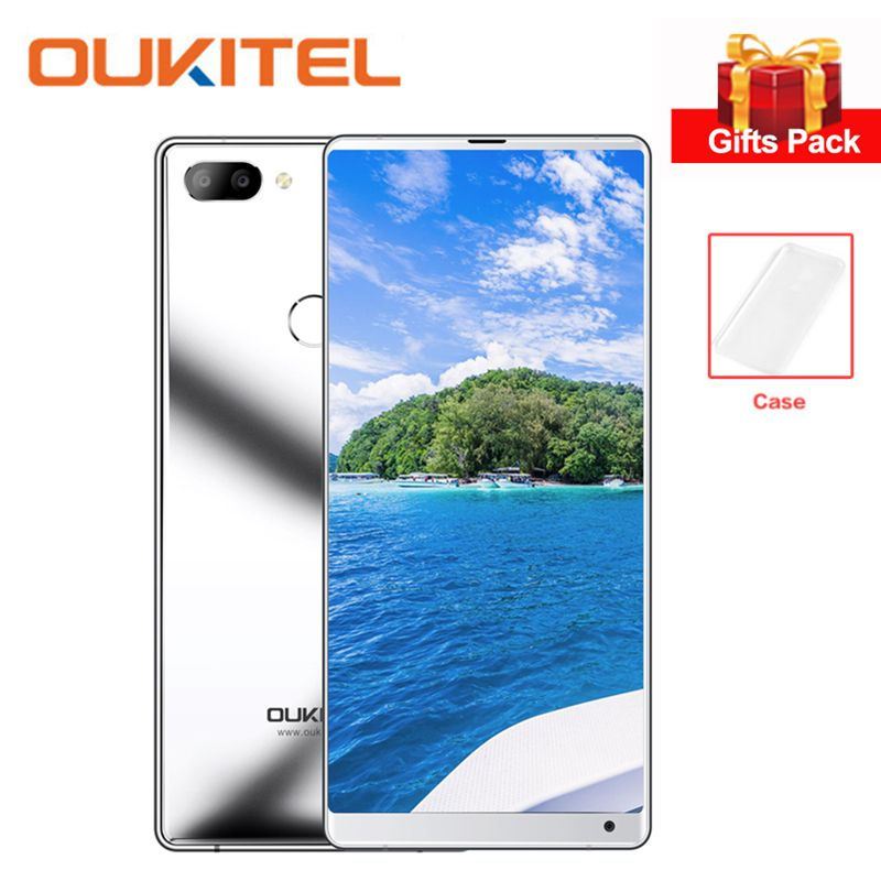 OUKITEL Mix 2 4G Smartphone 5.99 Inch FHD+ 18:9 Full Screen Helio P25 Octa Core 6GB+64GB Mobile Phone 9V/2A Quick Charge 16MP
