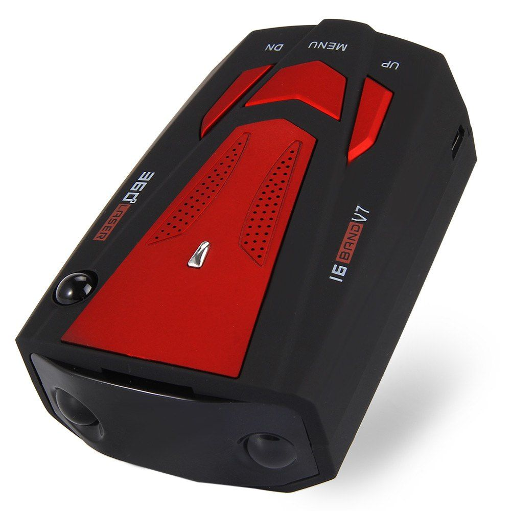 Auto 360 Degree Car Anti Radar Detector for RED Vehicle  Speed Voice Alert Warning with 16 Band LED Display Laser Detector