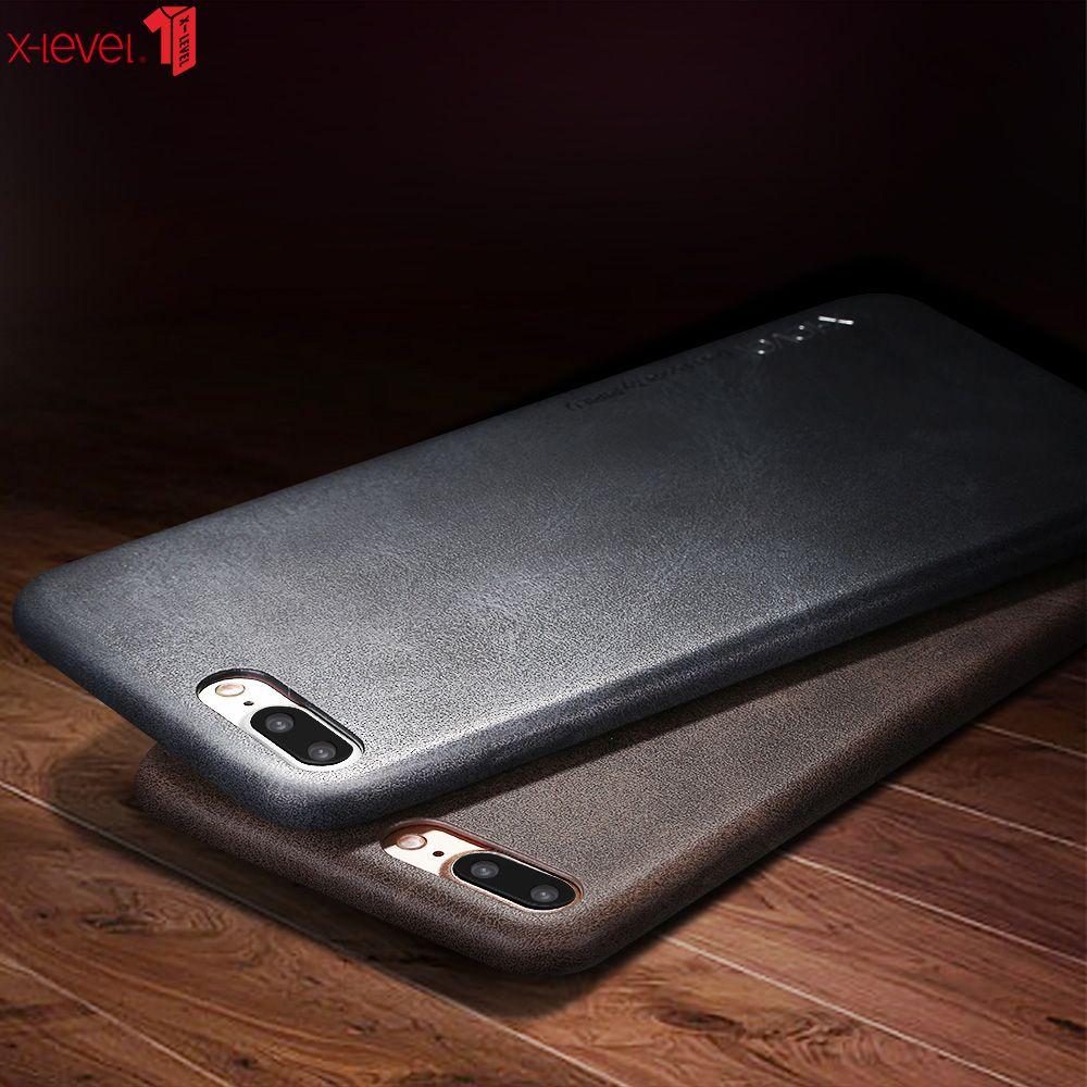 X-level rétro étui pour iPhone 7 8 luxe Ultra léger doux au toucher 360 affaires de Protection complète pour iPhone 8 7 Plus housse de Protection