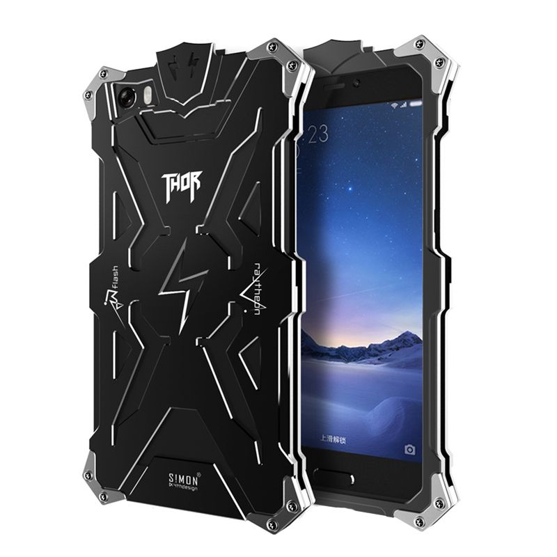 Simon thor for xiaomi redmi note 4 case metal aluminium iron man shockproof cases for mi4 mi4i mi5 redmi 4x note 4x 2 3 4 cover
