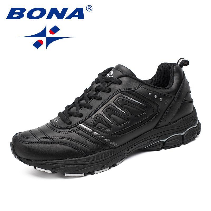 BONA nouveau Style hommes chaussures de course Ourdoor Jogging Trekking baskets chaussures de sport à lacets confortable léger doux livraison gratuite