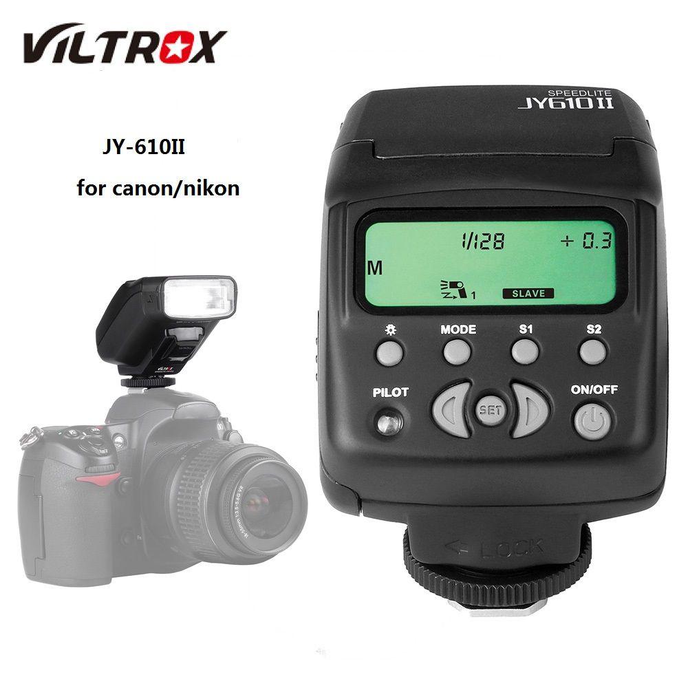 Viltrox JY-610 II Univeral On-camera Mini Flash Light Speedlite for Nikon D3300 D5300 D7100 Canon 5D Mark II III DSLR Cameras