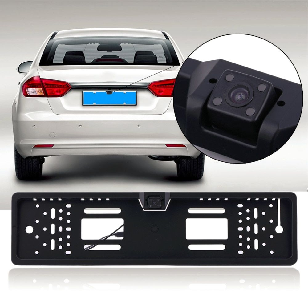 170 Degree HD Car License Plate Frame LED Auto Vehicle Reversing Rear View Backup Camera CCD Hanging Type Parking System