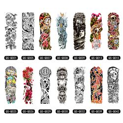Temporal tatuaje manga diseños brazo completo tatuajes impermeables para Cool hombres mujeres tatuajes transferibles pegatinas en el Arte del cuerpo