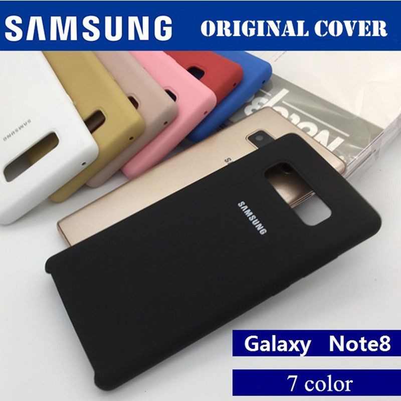 100% Original Samsung case for Samsung Galaxy Note 8 N9500 N950F Silicone Cover Back Case Protection - Anti-Wear case 7 colour