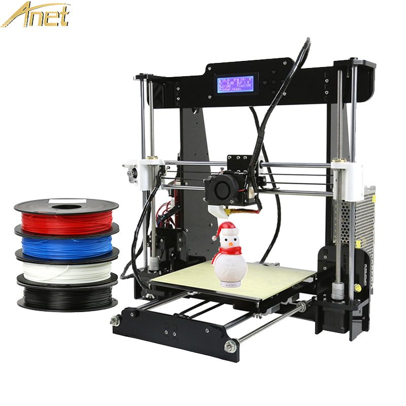Anet A6&A8 3d printer machine impressora 3D Printer Kit Easy Assemble Reprap DIY 3d Printer Free 1roll 0.5kg Filament