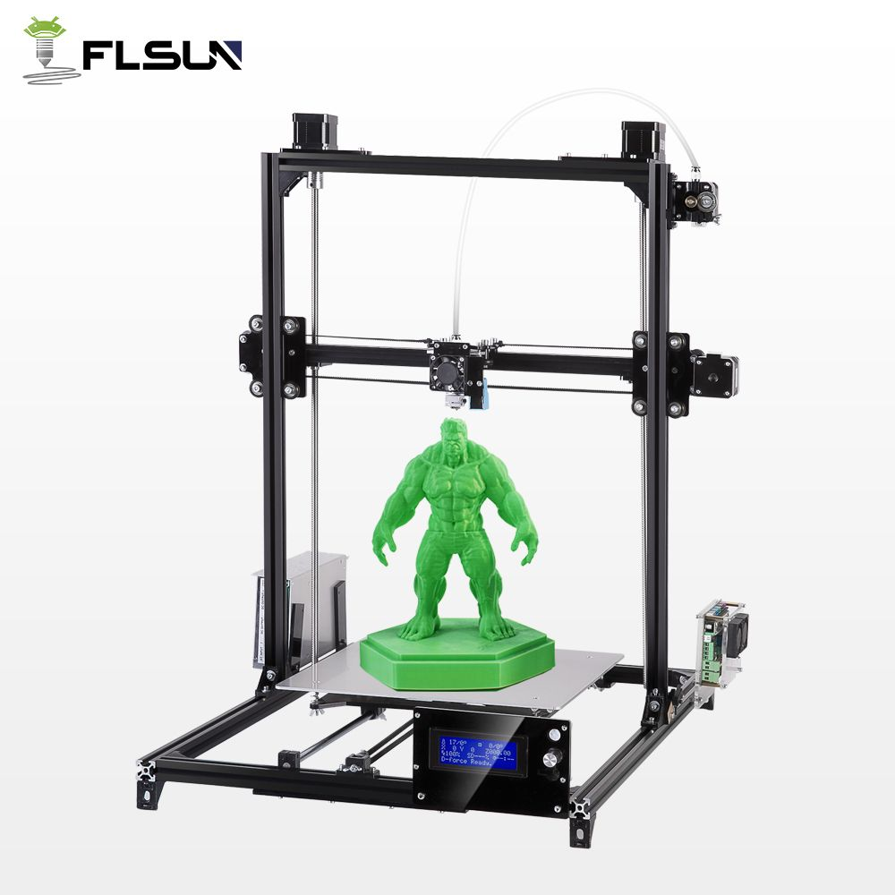 2018 Flsun Large Printing Area 300*300*420mm 3D Printer Auto Leveling Metal Stracture High Precision Heated Bed Kit filament