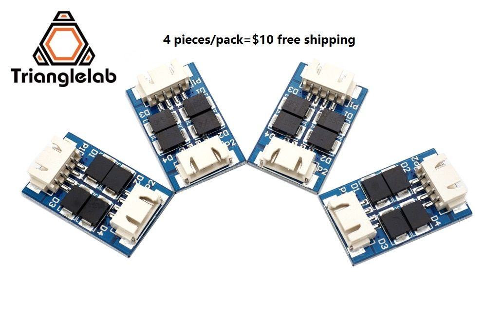 Trianglelab 4 pieces/pack TL-Smoother new kit addon module for 3D pinter motor drivers free shipping reprap  mk8 i3