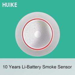 جديد 10 سنوات الحياة بطارية ليثيوم GSM نظام إنذار اكسسوارات اللاسلكية 433 MHz نوع السقف مستشعر إنذار الدخان كاشف الحريق