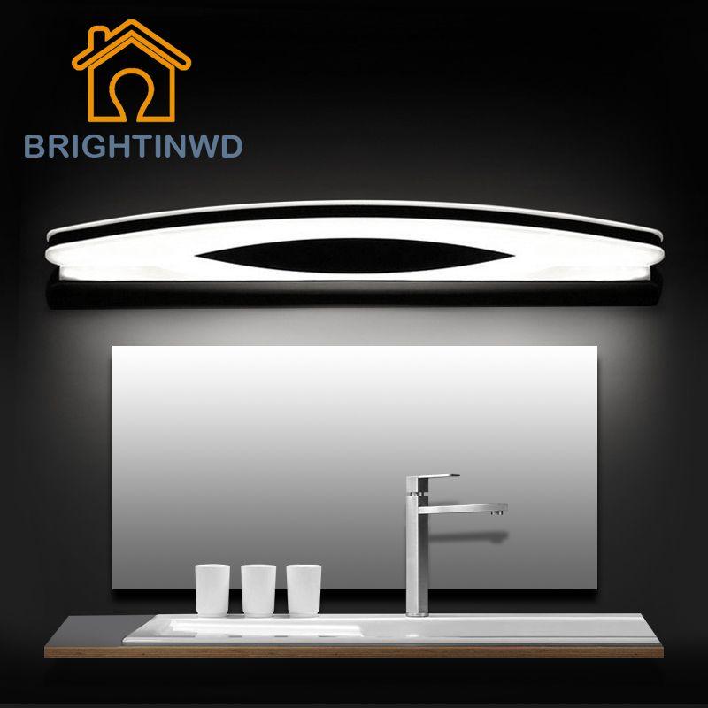 LED miroir lumière mur Lampada AC90-260V 39 cm 54 cm 70 cm 80 cm cosmétique acrylique salle de bain miroir lampe BRIGHTINWD