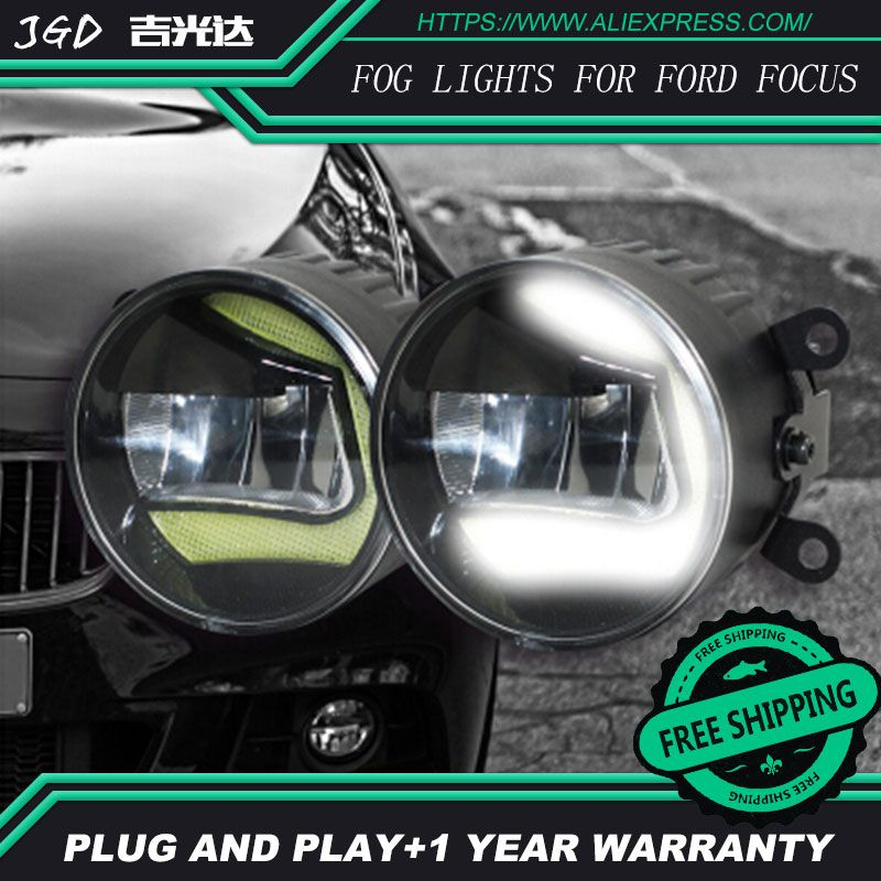 For Ford Focus 2004-2014 LR2 Car styling front bumper LED fog Lights high brightness fog lamps 1set