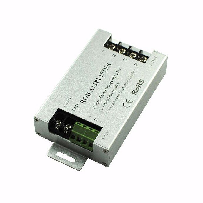 20pcs/lot DC12-24V 30A LED RGB Amplifier controller for 3528&5050 SMD RGB LED Strip
