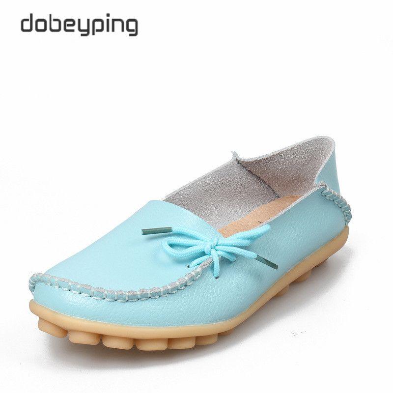 Nouvelles femmes en cuir véritable chaussures mocassins mère mocassins doux loisirs appartements femme conduite décontracté chaussures taille 35-44 en 24 couleurs