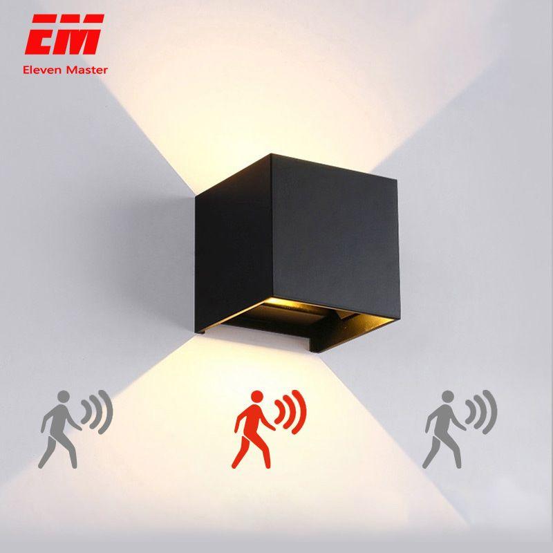 Mur LED lumière extérieure étanche IP65 Radar capteur de mouvement porche applique murale maison applique décoration intérieure éclairage lampe ZBW0002