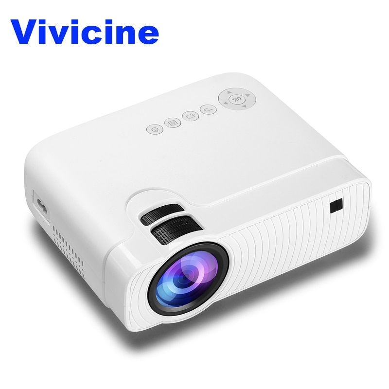 Vivicine High brightness Portable LED Mini Projector,Optional Android 7.1.2 Wifi HD PC Home Theater Video Game Proyector Beamer