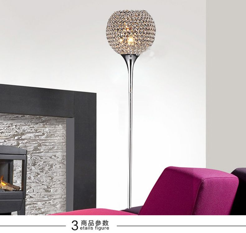 Crystal Floor Lamp Modern Crystal Floor Lights Living Room Home Lighting Fixture Decor Lampshade Lighting E27 110-240V