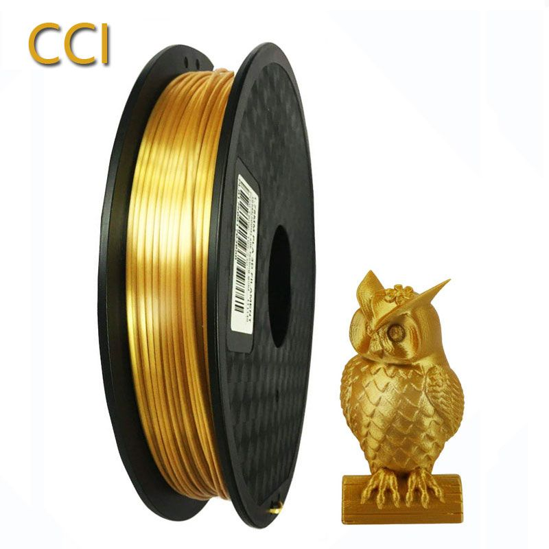 3d matériaux d'impression 0.5 kg filament de soie pla 1.75mm matériau d'impression en plastique couleur or pinter filament cuivre argent rose