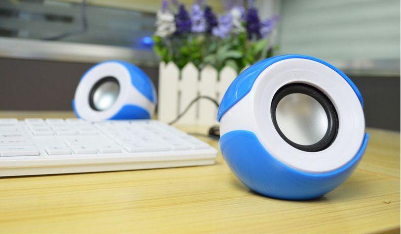 New Style Portable USB 2.0 Desktop Mini Subwoofer Stereo Speakers Computer Notebook Mini Speaker set MP3 Music Player