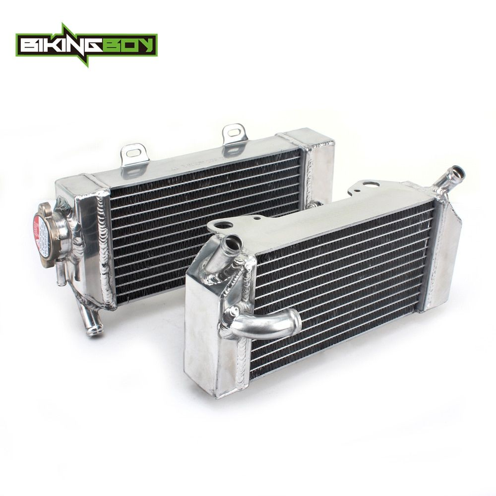 BIKINGBOY MX Motocross Offroad Bike ALU Engine Water Cooling Radiators For Honda CRF 250 R / X 2004-2009 CRF250R CRF250X 04-09