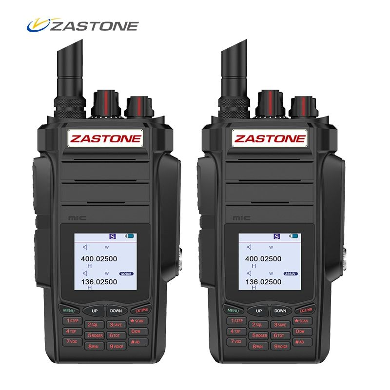 (2pcs) Zastone A19 10W Radio 5km Walkie Talkie 136-174/400-480 mhz Dual Bands VHF/UHF Two Way Radio FM Ham Radio Zastone telsiz