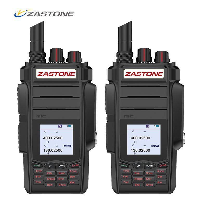 (2pcs) Zastone A19 10W Radio 5km Walkie Talkie 136-174/400-480 mhz Dual Bands VHF/UHF Two Way Radio FM Ham Radio Zastone telsiz