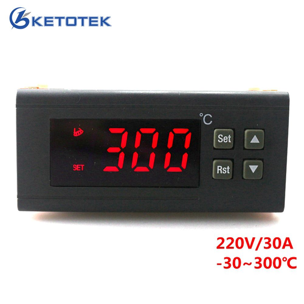 220V/30A Digital Temperature controller RC-114M Thermostat Relay Output -30~300 Degree with NTC <font><b>Sensor</b></font>