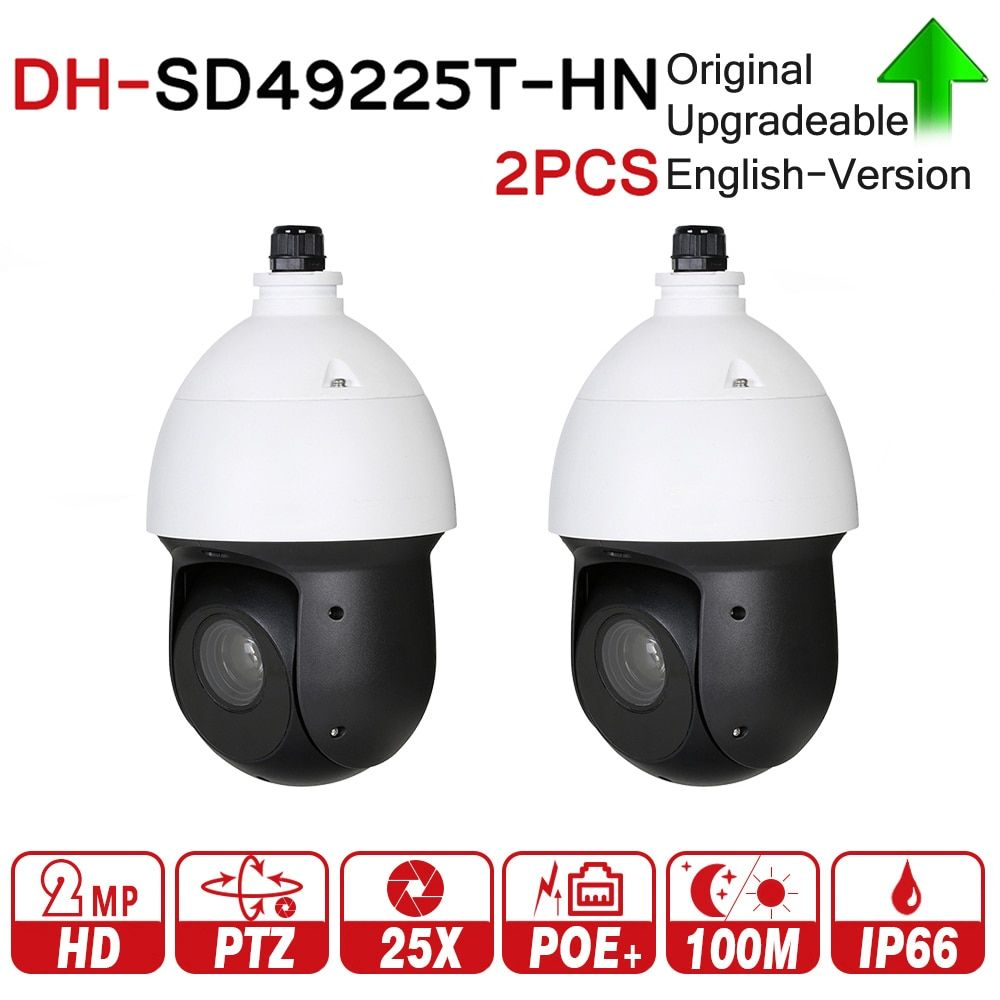 DH SD49225T-HN with logo original 2MP 25x Starlight PTZ Network IP Camera High Speed IP Dome Camera Digital Zoom IP66 2pcs/lot