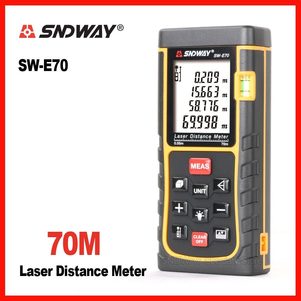 Sndway 70m digital laser range finder distance instruments tape measure roulette meter trena rangefinder Electronic rulers E70