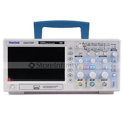 Hantek DSO5102P Digital Oscilloscope 100MHz 2Channels 1GSa/s Real Time sample rate USB host and device connectivity 7 Inch RU DE