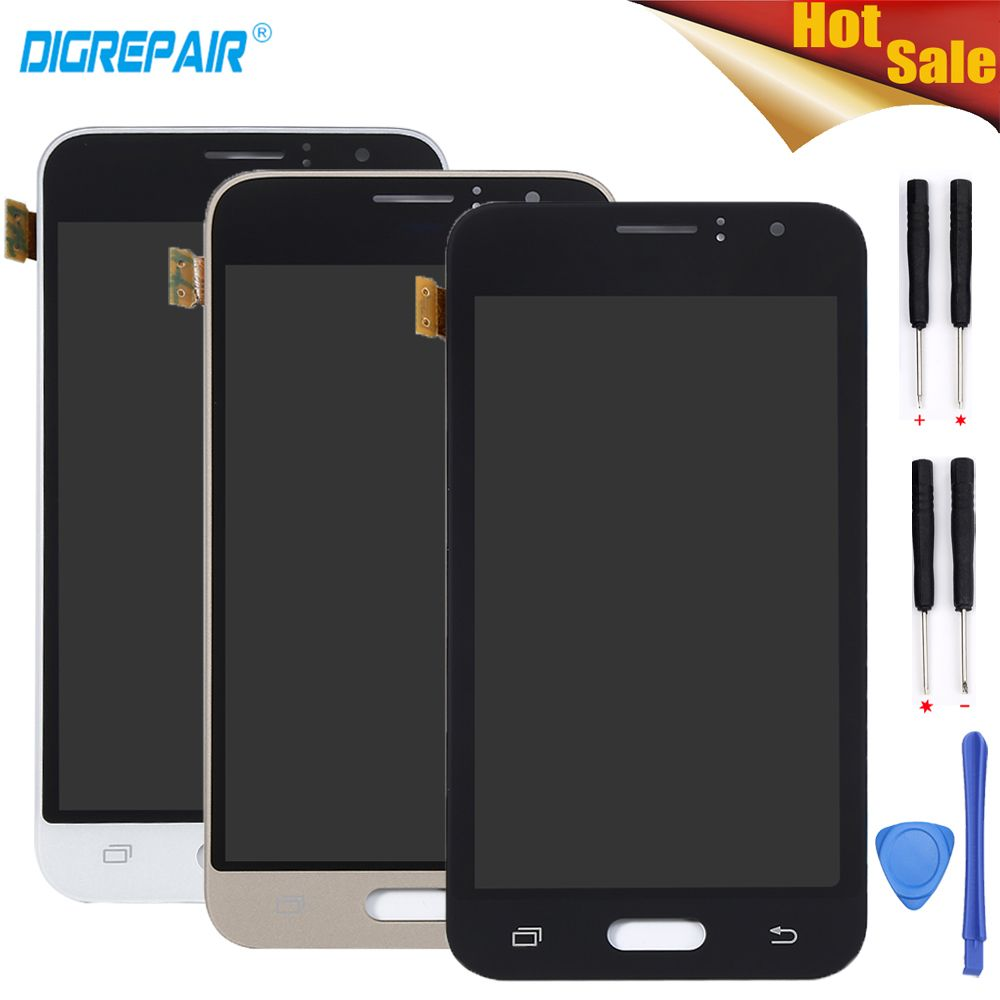 4.5 Black/White/Gold For Samsung Galaxy J1 J120 J120F J120M J120H LCD Display Digitizer Touch Screen Panel Assembly Parts+Tools
