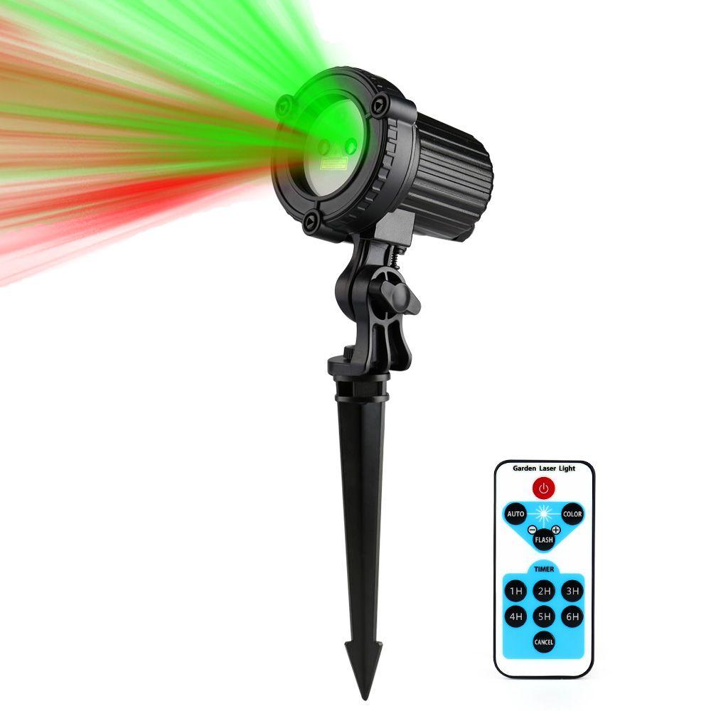 Luces de Jardín Al Aire Libre luz de la Estrella de Navidad Láser rojo Láser Verde Proyector IP44 Impermeable Control Remoto IR Mostrar RG Decoración