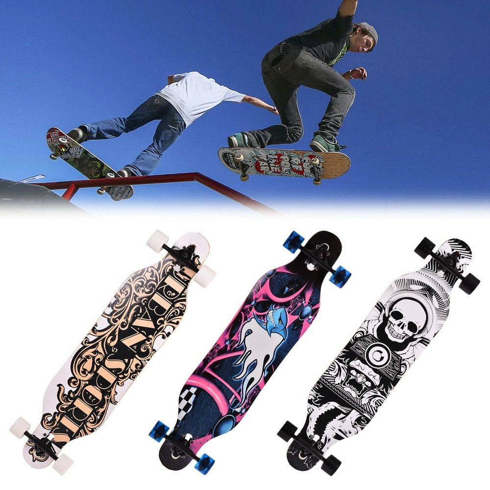 New 41 inch Canadian Maple Professional Skateboard Road Longboard Skate Board 4 Wheel Downhill Street Long Board
