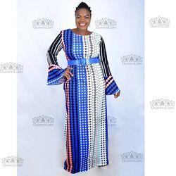 2018 Baru Fashion 100% Kapas Dashiki Cetak Dashiki Elastis Besar Pola Warna Dashiki Gaun untuk Wanita (LILI03 #)