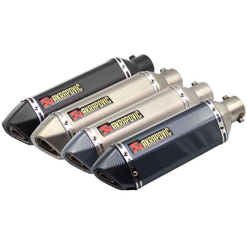 Longueur 370mm Inlet 51mm Moto Akrapovic D'échappement Silencieux Tuyau Universel Évasion Moto avec DB Tueur En Acier Inoxydable