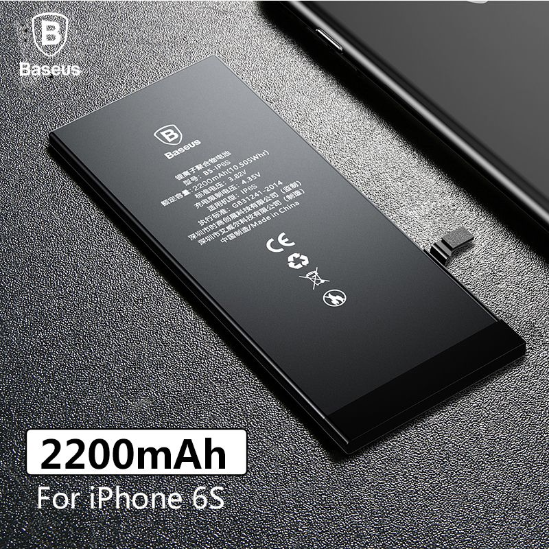 Baseus Original Lithium Polymer Battery For Apple iPhone 6S 6SG Internal Batterie High Capacity 2200mAh Bateria Free Tool